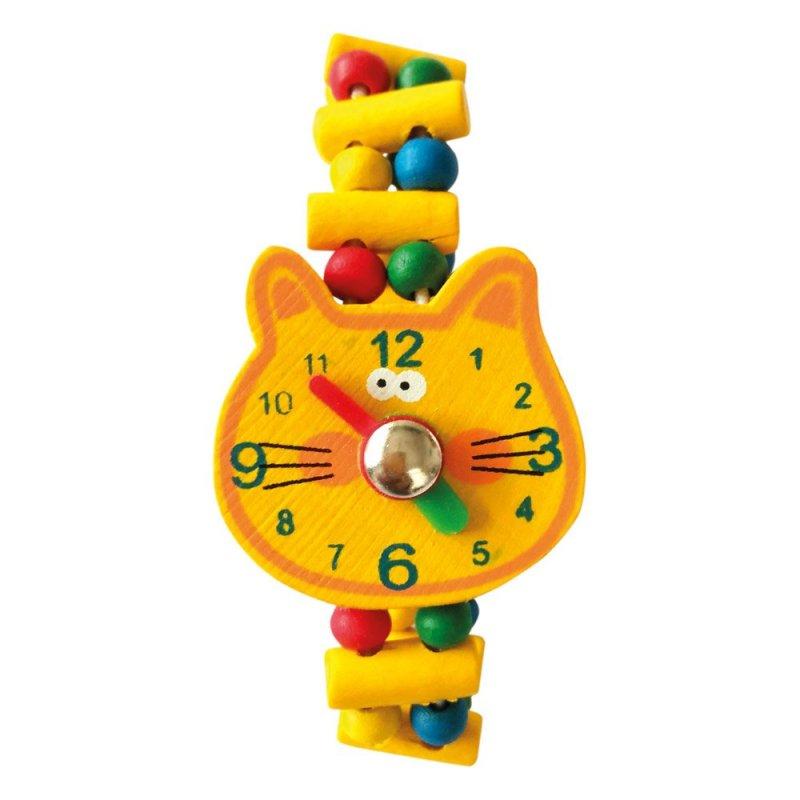 Dřevěné hodinky - Žába