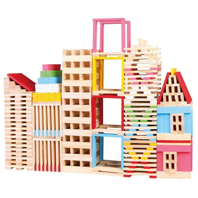 Dřevěná stavebnice, město
