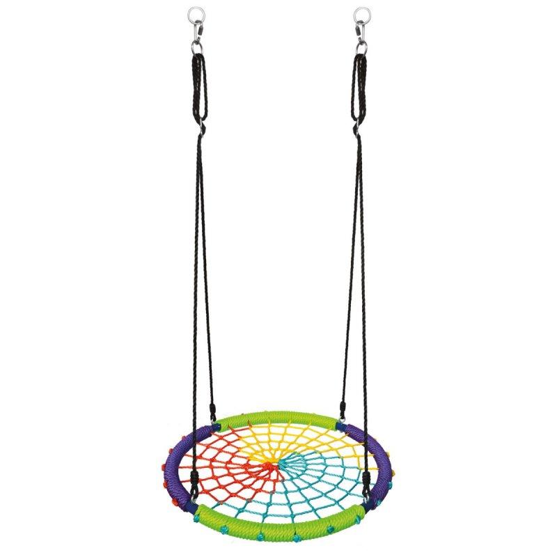 Dětská houpací kruhová rohož, barevná
