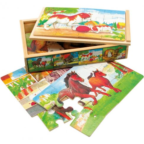 Puzzle v krabičce - zvířátka