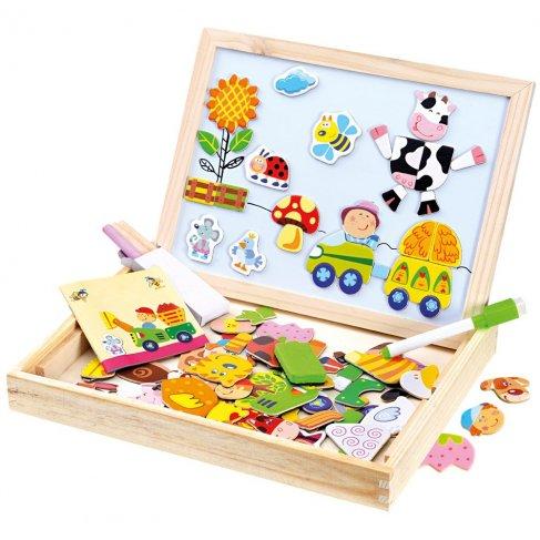 Farma magn. tabulka s puzzlemi 102ks