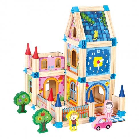 Dřevěná stavebnice, zámek