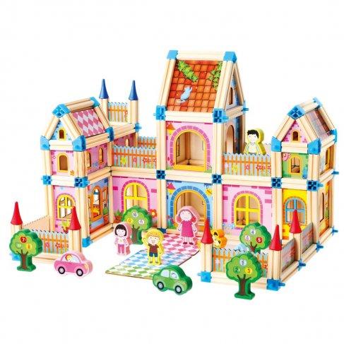 Dřevěná stavebnice, velký zámek