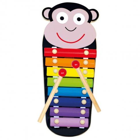 Xylofon kovový Opička