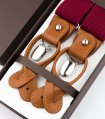 Rustic bow tie suspenders set