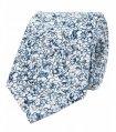 White blue floral nectie set