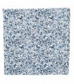 White blue floral pocket square