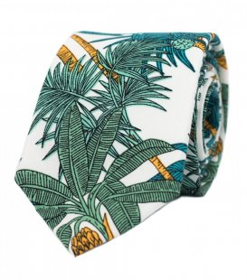 White green palms tie