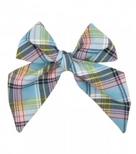 Blue plaid ladies tie