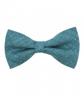 Blue teal bow tie