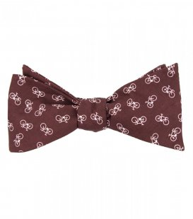 Bikes self-tie bow tie