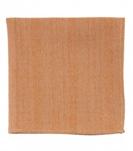 Orange herringbone pocket square