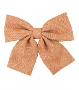Orange herringbone ladies bow tie