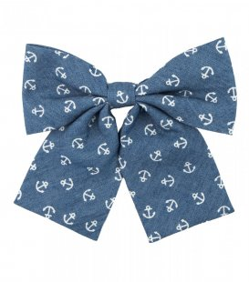Blue anchors ladies bow tie