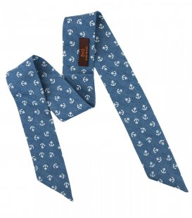Blue anchors ladies bow