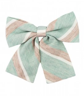 Mint beige ladies bow tie