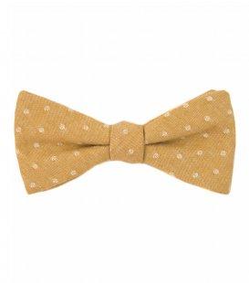 Mustard dots bow tie