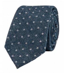 Modrá kravata s puntíky