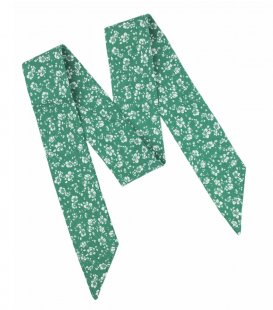 Green floral ladies bow