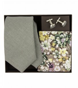 Grey necktie set