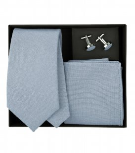 Modrá kravatová sada Dusty Blue