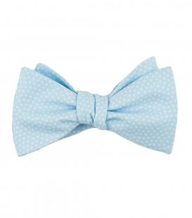 Blue dots self-tie bow tie