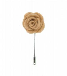 Beige felt lapel flower