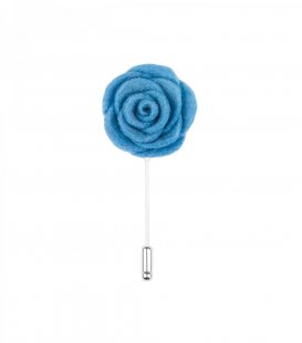 Blue felt lapel flower