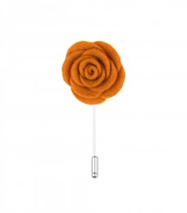 Orange felt lapel flower