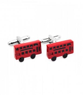 Double decker bus cufflinks