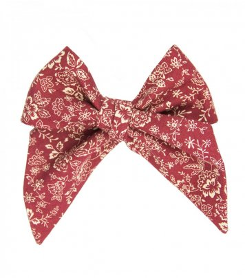 Burgundy beige floral ladies tie