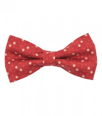 Red dots pre-tied bow tie