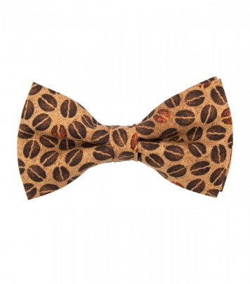 Brown coffee beans bow tie