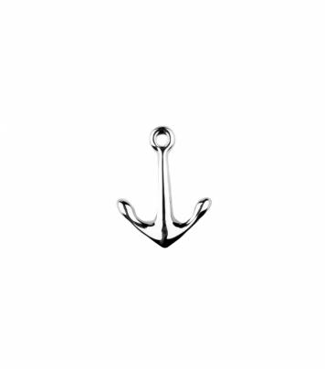 Anchor lapel pin brooch