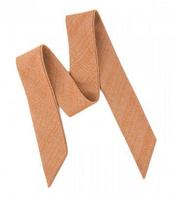 Orange herringbone ladies bow