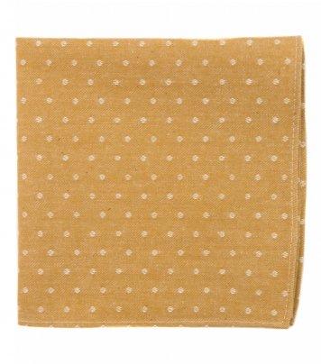 Mustard dots pocket square