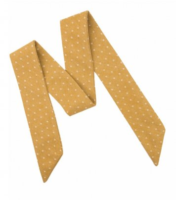 Mustard dots ladies bow