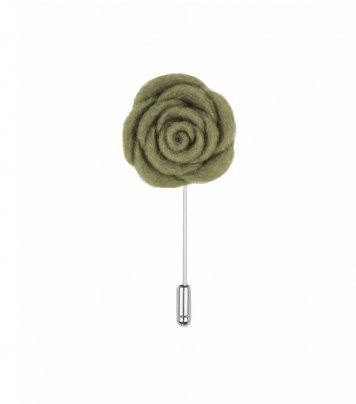 Sage green lapel flower pin