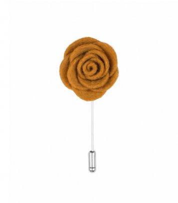 Mustard lapel flower pin