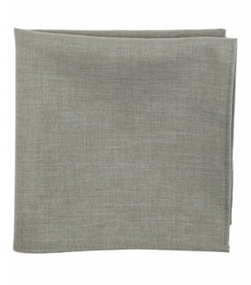 Grey pocket square