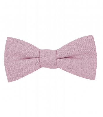 Solid Blush Pink self-tie bow tie