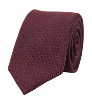 Solid Burgundy red necktie