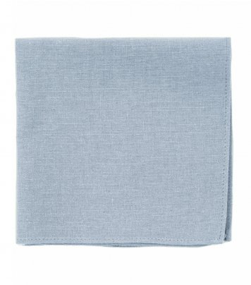 Solid Dusty Blue pocket square
