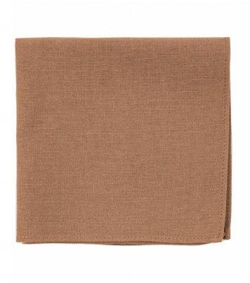 Solid Cinnamon brown pocket square