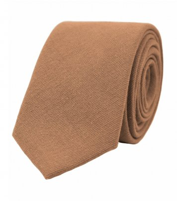 Solid Cinnamon brown necktie
