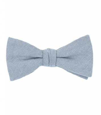 Solid Dusty Blue bow tie