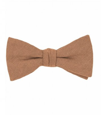 Solid Cinnamon brown bow tie