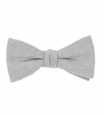 Solid Mist grey bow tie
