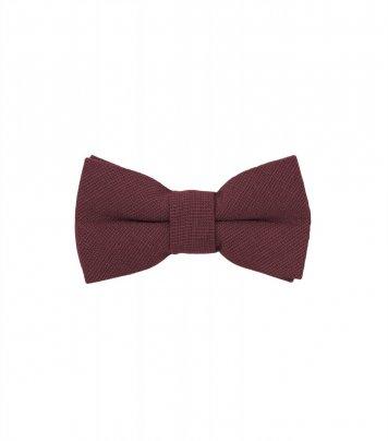 Solid Burgundy kids bow tie