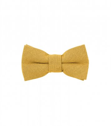 Solid Sunflower yellow kids bow tie